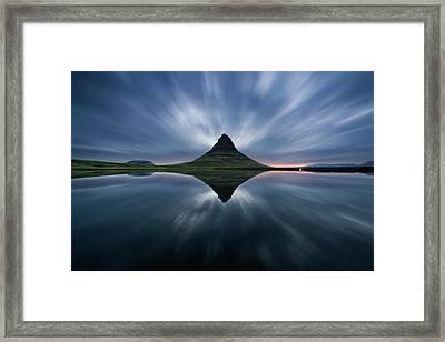 A Night At Kirkjufell Framed Print