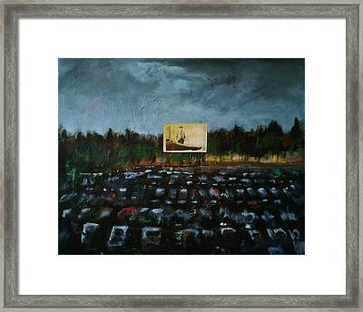 A Night At The Drive In Framed Print by Frances Marino
