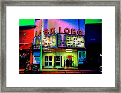 A Night At The Lobo Framed Print by Don Durante Jr