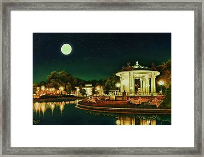 Framed Print featuring the painting A Night At The Muny by Michael Frank