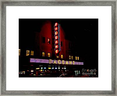 A Night At The Pageant Framed Print by Kelly Awad