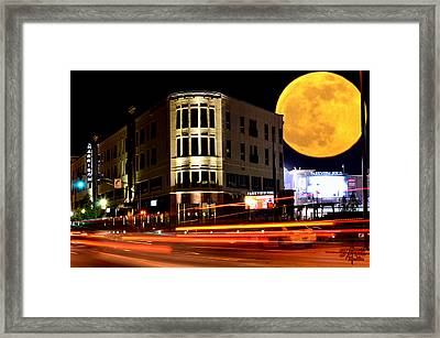A Night Downtown Framed Print