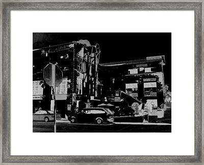 A Night For Cafe And Billiards Framed Print by Pharris Art