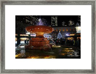 A Night In Bryant Park Framed Print by Nicholas Santasier