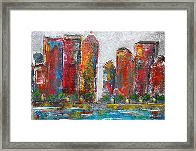A Night In The City Framed Print by Melisa Meyers