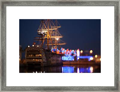 A Night Into Town Framed Print
