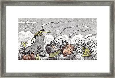 A Night Lecture On Evolution Framed Print