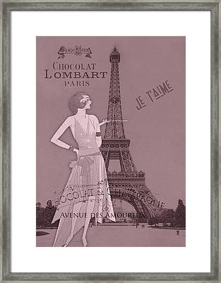 A Night To Remember Valentine Framed Print by Sarah Vernon