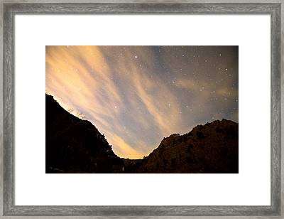 A Night Up The Canyon Framed Print by James BO  Insogna