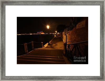 A Night Walk In Venice Framed Print