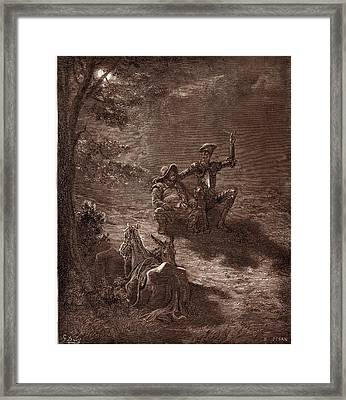 A Nocturnal Discourse, By Gustave Dore. Dore Framed Print by Litz Collection