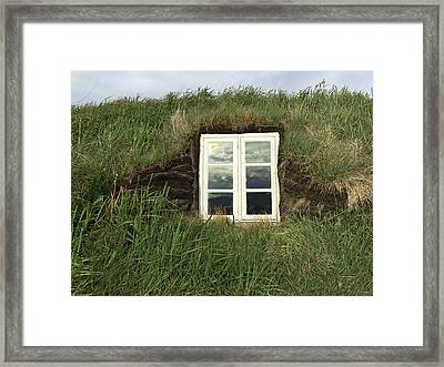 A Northern Iceland Turf Farmhouse South Framed Print