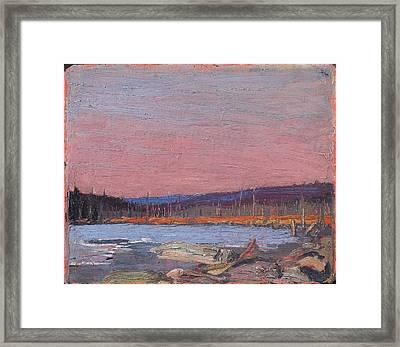 A Northern Lake Framed Print