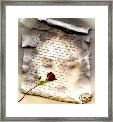 A Note And She Was Gone Framed Print by Gun Legler
