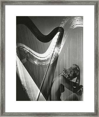 A Nude Portrait Of Lisa Fonssagrives Framed Print by Horst P. Horst