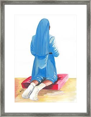 A Nuns Prayer Framed Print