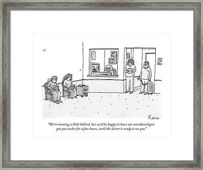 A Nurse And An Anesthesiologist With A Gas Tank Framed Print