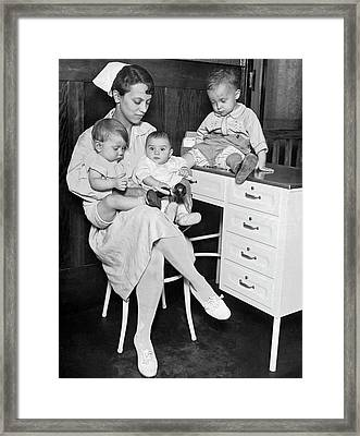 A Nurse For The Courts Framed Print