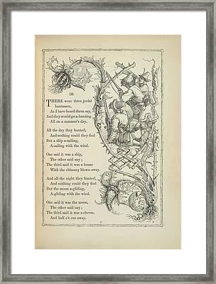 A Nursery Rhyme Framed Print by British Library