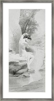 A Nymph Framed Print by Charles Prosper Sainton