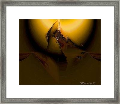 A-o-v-a-l Framed Print by Ines Garay-Colomba