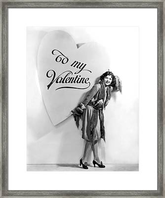 A Oversized Valentine Framed Print