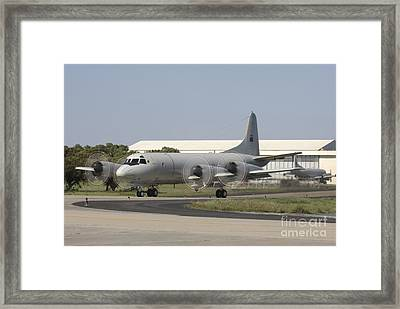 A P-3c Orion Of The Portuguese Air Framed Print