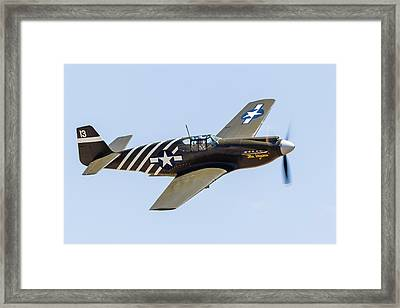 A P-51a Mustang Flying Over Chino Framed Print