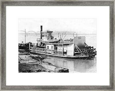 A Paddlewheel Ferry Boat Framed Print by Underwood Archives