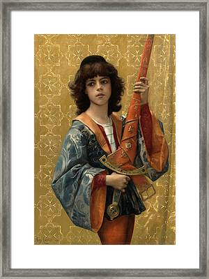 A Page Framed Print by Alexandre Cabanel