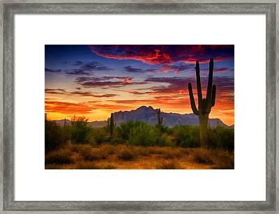 A Painted Desert  Framed Print