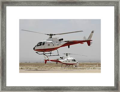 A Pair Of As350 Squirrel Helicopters Framed Print by Ofer Zidon