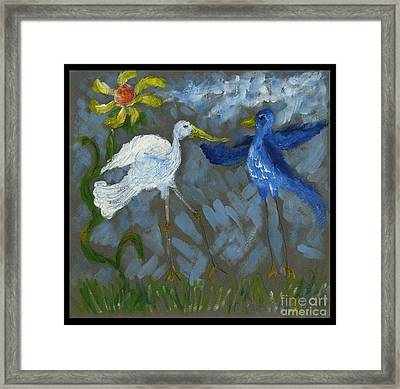 A Pair Of Birds In Paradise  Framed Print by Cathy Peterson