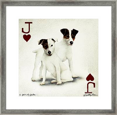 A Pair Of Jacks... Framed Print by Will Bullas