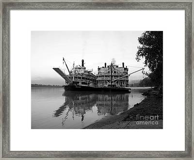 A Pair Of Queens Bw Framed Print by Mel Steinhauer