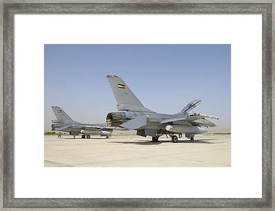 A Pair Of Royal Jordanian Air Force Framed Print