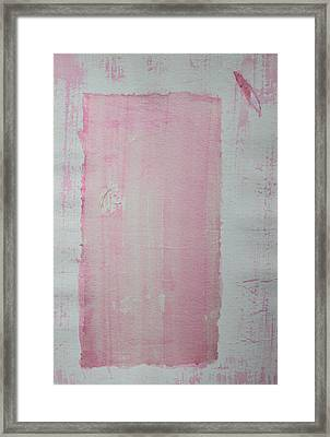 A Paler Shade Of Pink Framed Print