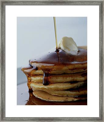 A Pancake Stack Framed Print by Romulo Yanes