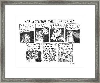 A Panel Called Creation: The True Story Which Framed Print