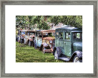 A Parade From The Past Framed Print by Danny Pickens