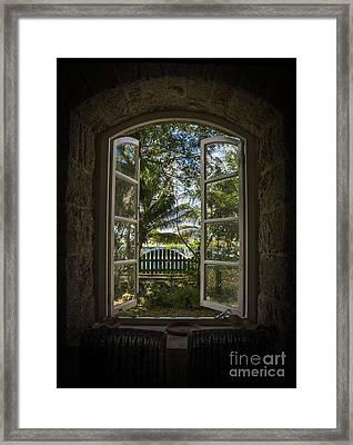 A Paradise Awaits Framed Print