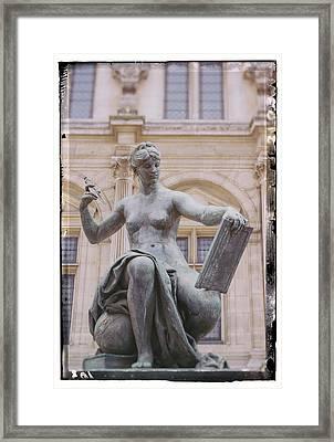 A Paris Statue Framed Print by Georgia Fowler