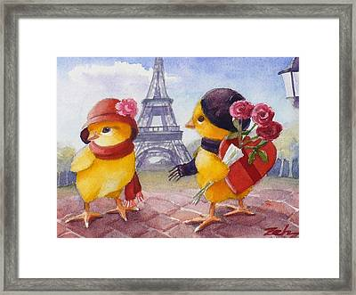 A Paris Valentine Framed Print by Janet  Zeh