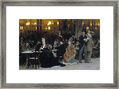 A Parisian Cafe Framed Print by Ilya Efimovich Repin