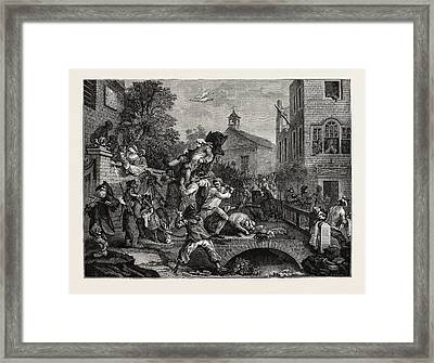 A Parliamentary Election The Eighteenth Century Chairing Framed Print