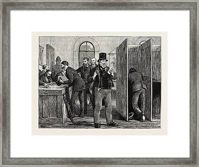 A Parliamentary Election The Nineteenth Century Voting Framed Print by English School
