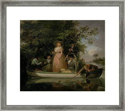 A Party Angling, George Morland, 1763-1804 Framed Print by Litz Collection