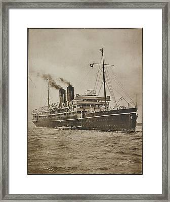 A Passenger Steamer. The S.s. Morea Framed Print by British Library