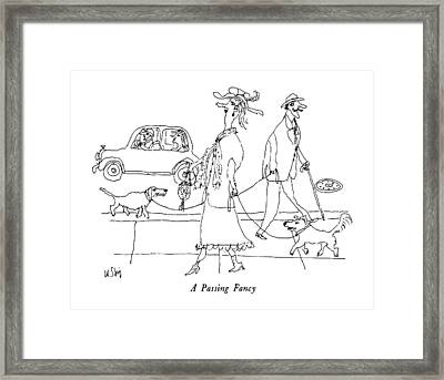 A Passing Fancy Framed Print