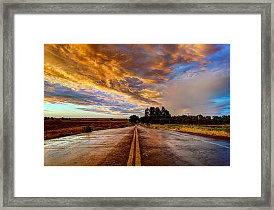 A Passing Storm Framed Print
